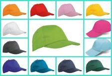 Berretto Cappello 5 pannelli visiera  Bambino/a grest,gite,feste,sport 13 colori