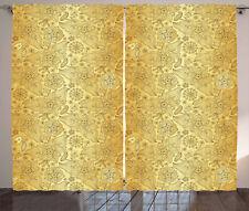 Oriental Curtains 2 Panel Set Decoration 5 Sizes Window Drapes