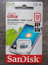 Carte Mémoire SANDISK ULTRA 32 Gb Go Micro SDHC : Dispo aussi 4 8 16 64 128 Giga