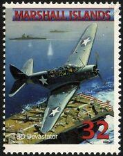 US Navy DOUGLAS TBD DEVASTATOR Torpedo Bomber Aircraft Airplane Mint Stamp