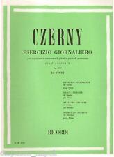 Czerny:Esercizio Giornaliero Sul Pianoforte Op.337 - Ricordi