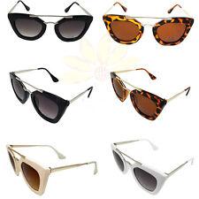 Wholesale Women's Fashion Designer Eyewear Cat Eye Sunglasses Metal Frame 393