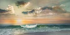 Mike Calascibetta: Sundown Keilrahmen-Bild Leinwand Meer Sonnenuntergang Wolken