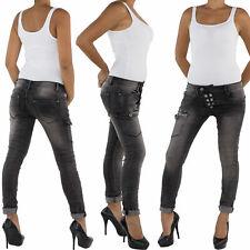 Femmes Boyfriend Jeans pantalon jean cigarette Baggy cinohose facon sarouel 558
