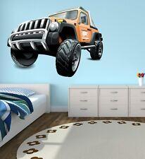 Rustic Vehicle 4 x 4 Wall Decal Kids Bedroom Art Decor Wall Paper Vinyl J396