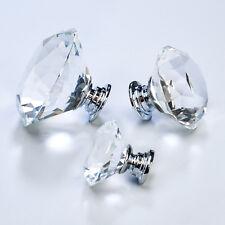 cristal facetado diamante transparente armario cocina dormitorio puerta armario