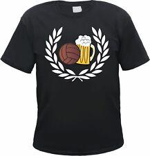 Lorbeerkranz Fussball Bier T-Shirt - Ultras Fussballfans Fanshirt Bolzen Stadion