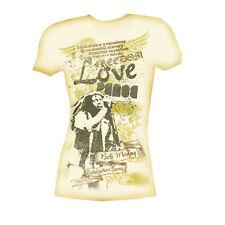 Bob Marley Lyrics CREAM Juniors Ladies T-Shirt