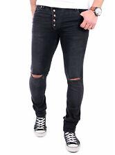 Tazzio Jeans Herren Destroyed Slim Fit Strech Jeanshose TZ-16512 Schwarz Neu