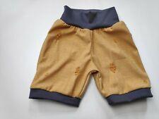 kurze Hose koriander, gelb, destroyed Jersey, gerades Bein handmade