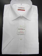 Marvelis Herren Kurzarmhemd  100% Baumwolle Bügelfrei -weiß-