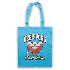 Beer Pong Champion Clásico Juego De Beber divertida comedia de HOMBRO acarreo Bolso de la tienda