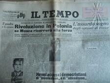 Il Tempo 289 1956 Rivoluzione in Polonia su intervento