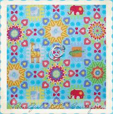 BonEful Fabric FQ Cotton Quilt Rainbow Animal Baby Girl Boy Heart Flower Calico