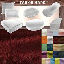 Wn08 Dark Red Chenille  Sofa Seat Patio Bench Box Cushion Bolster Cover/Runner