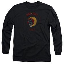 Bon Jovi 1987 Mens Long Sleeve Shirt Black