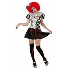 Costume Pierrot Zombie Halloween insanguinato Sexy carnevale horror clown party
