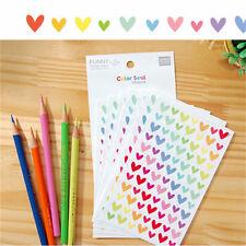 Colorful Star Love Shape Stickers For School Children Teacher Reward DIY CraftSN