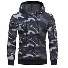 Fashion Mens Autumn Winter Camouflage Hooded Sweatshirt Tops Jacket Coat Outwear