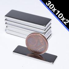 Neodym Magnet Quader 30x10x2mm Neodym-Magnete Quadratisch Flach Starke Magnete