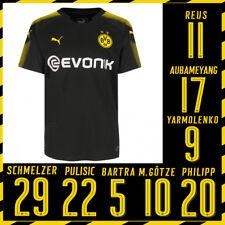 Puma BVB Borussia Dortmund Home Auswärtstrikot 2017/2018 schwarz mit Flock
