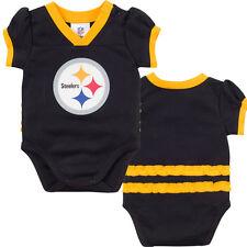 Pittsburgh Steelers NFL Black Kids Girls Bodysuit/Creeper Jersey/Shirt: 0-3m-18m