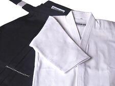 Gi und Hakama Set schwarz/weiß für Kendo Iaido Aikido