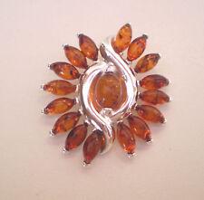 Genuine Baltic Amber Ciondolo Argento Sterling 925