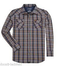 DUCATI SCRAMBLER Tartan Camisa De Cuadros Camiseta azul marrón NUEVO 2017