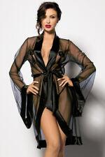 Bata Anthis Negro Set con Cadena Kimono Transparente Aus Tul