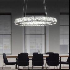 LED Crystal Oval Ring Pendant Light Chandelier Lamp Ceiling Fixture UK New