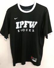 Nike Dri Fit Mens NTS Tiempo Black Official IPFW Fort Wayne Soccer Jersey Shirt