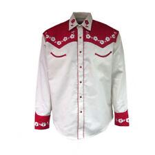 Hombre Rockmount Rojo y Crema Loving You 2-tone Floral Elvis Camisa
