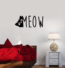 Wall Decal Cat Pet Phrase Meow Cute Vinyl Sticker (ed809)