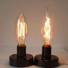 Vintage 40W E14 Screw SES Edison Bulb Retro Filament Incandescent Candle Light