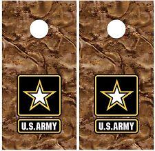U.S. Army Digital Desert Camo Cloth Cornhole Board Decal Wrap Wraps