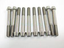 Titanium M10 x 80mm 1.5 Pitch Hex Taper Socket Cap Head Ti Bolts Screw 2/5/8pcs
