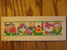 GARDEN FLOWERS Rubber Stamp 80455 Stamps Happen Brand NEW!~