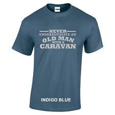 Caravan nunca subestimes un viejo con texto de Plata Camiseta S a 5XL
