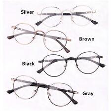 Unisex Retro Vintage Metal Frame Designer Clear Lens Glasses Nerd Geek Eyewear