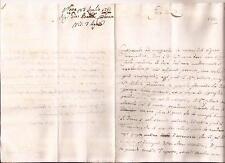 23-7-1751 PREFILATELICA DA NOVE DA BATTA CARBONARA A GIUSEPPE CATTANEO A GENOVA