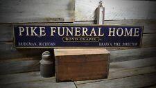 Custom Funeral Home Sign - Primitive Rustic Hand Made Vintage Wooden ENS1000316