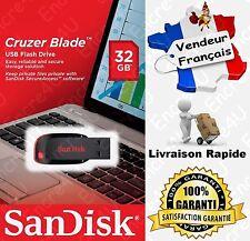 Clé USB SanDisk 32 Go Modèle Cruzer BLADE - Disponible aussi en 8 16 64 Gb Giga