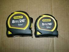 Stanley tylon 5m and 8m tape measure twin pack models1-30-656/1-30-696 inc vat