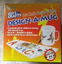Kid's Crafts DESIGN-A-MUG plastic cup for kids to design - 5 varieties ON SALE