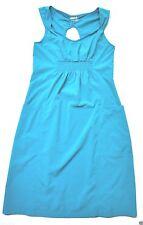 Athleta Dress 2 empire waist soft stretch Aqua pockets zipper featherlight sport