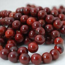 Jaspe Natural de Apple (Rojo) Piedras Preciosas redonda con cuentas-Grado A - 4 mm 6 mm 8 mm 10 mm