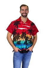 "Camisa Hawaiana | ""Beach"" | Rojo |  XS - 12XL"