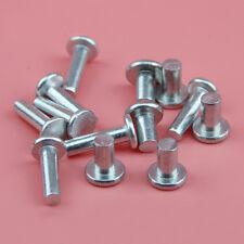 100Pcs M2 M2.5 M3 3-30mm Flat head Aluminum Rivet Solid Rivets 2/2.5/3mm DIA