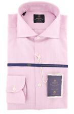 New $600 Luigi Borrelli Pink Shirt - Extra Slim - (EV06RC200580)